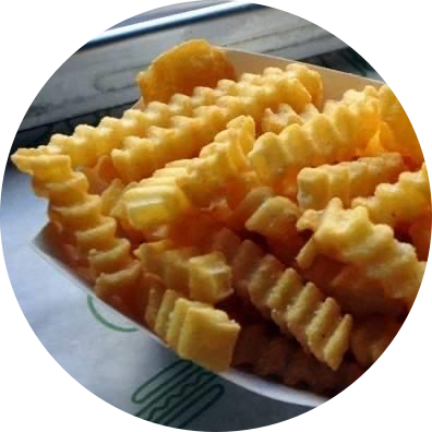 Crinkle Fries Circle
